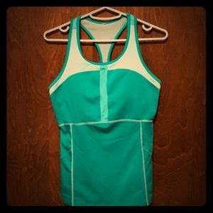 Lucy two tone green tank top